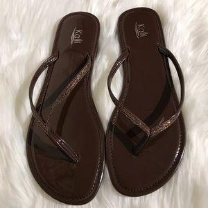 Kali Brown Flip Flop